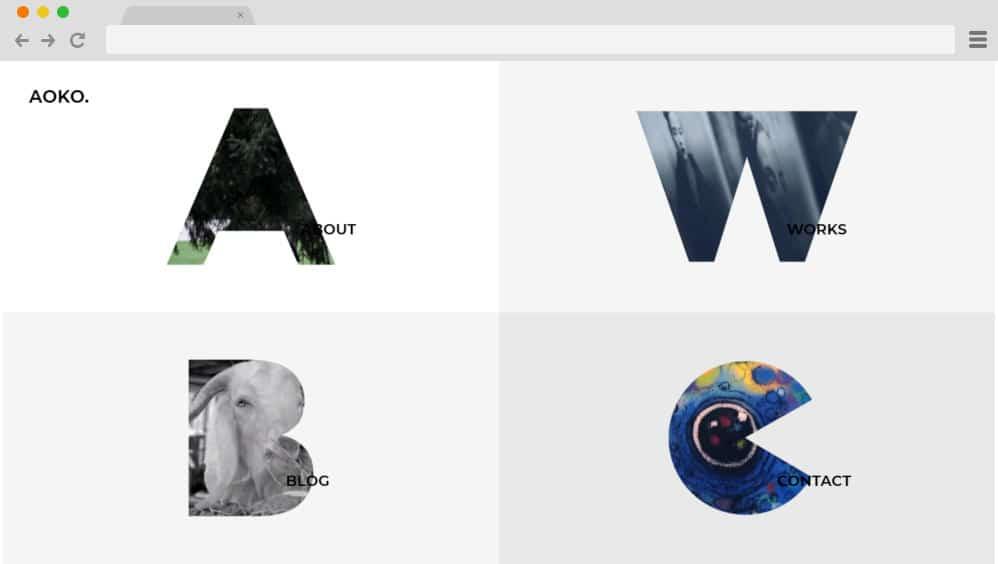 HTML image gallery - aoko