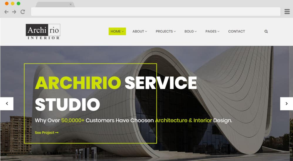 HTML image gallery - archirio