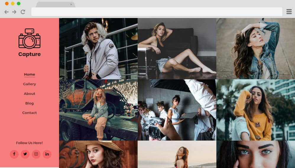 HTML image gallery - capture