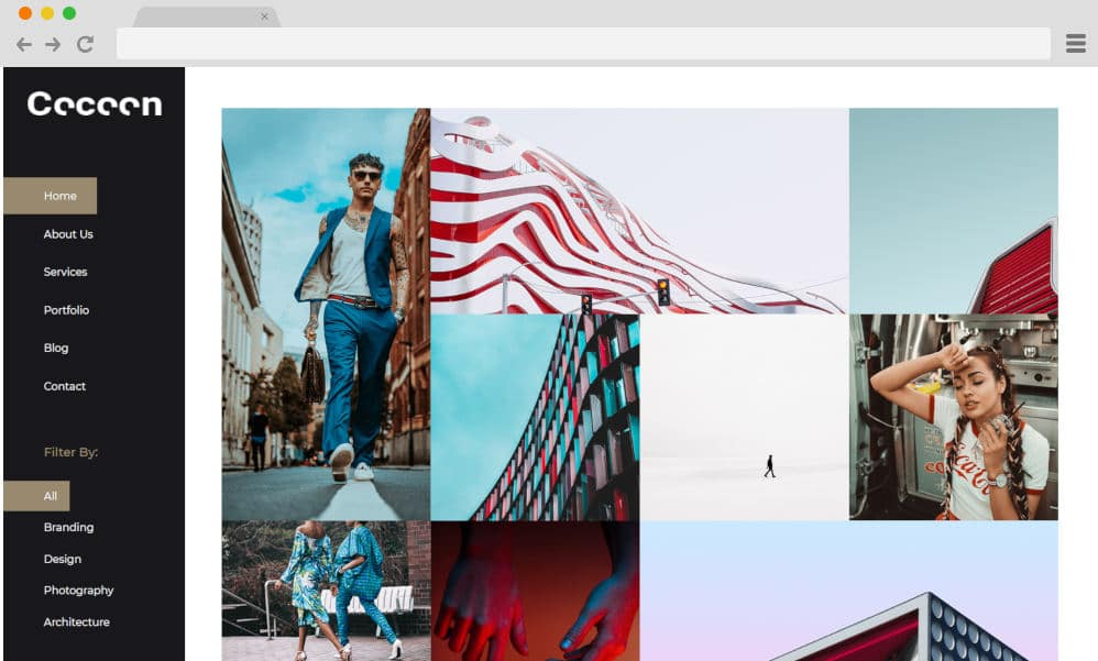 HTML image gallery - cocoon