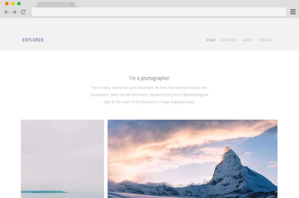 HTML image gallery - explorer