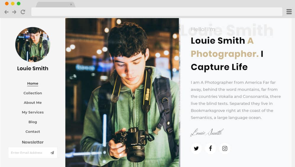 HTML image gallery - louie