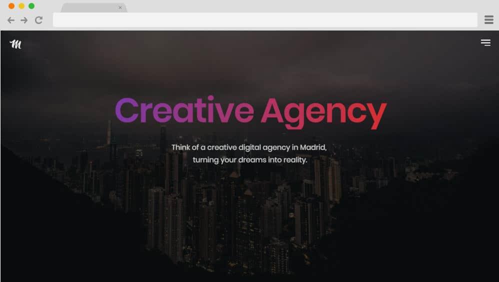 HTML image gallery - madrid