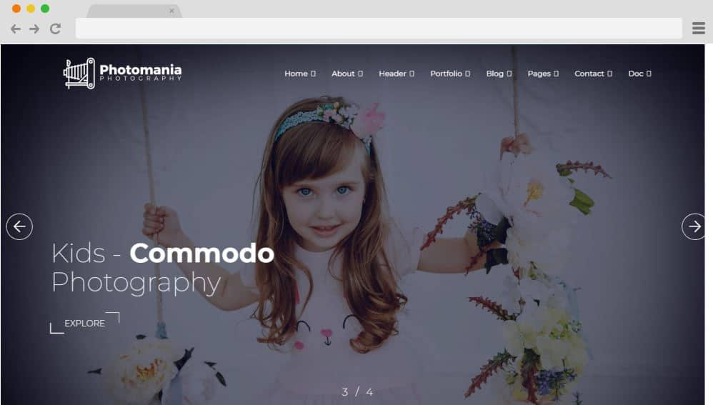 HTML image gallery - photo mania