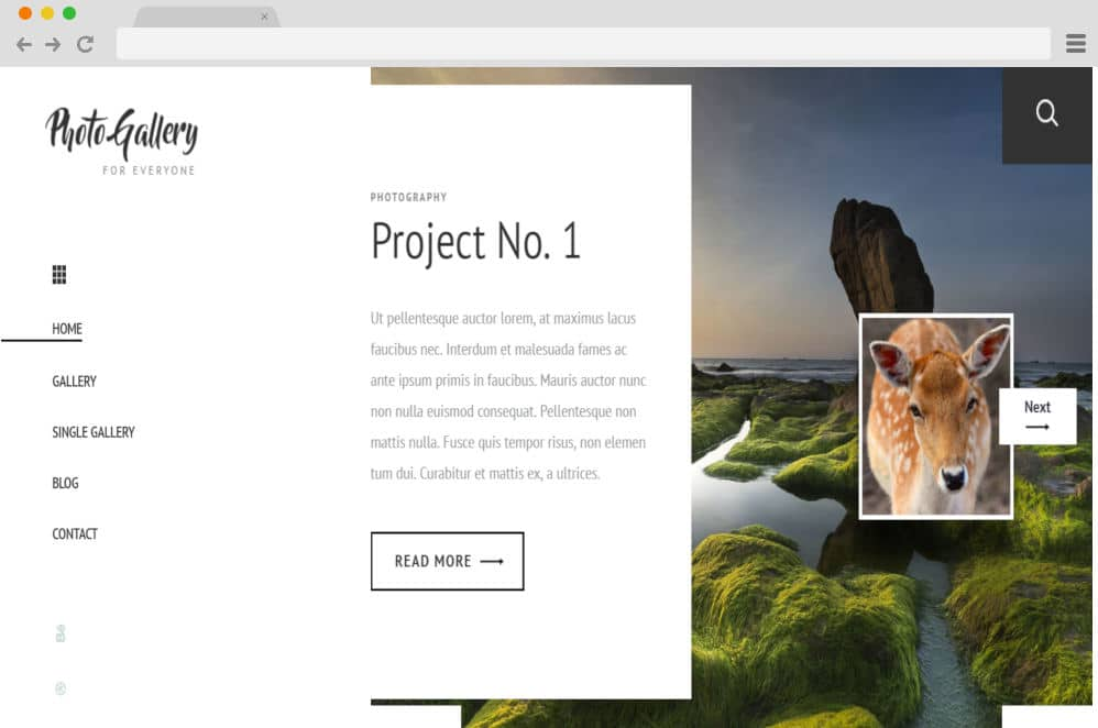 HTML image gallery - photogallery