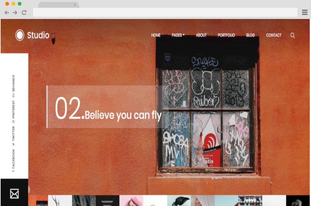 HTML image gallery - studio