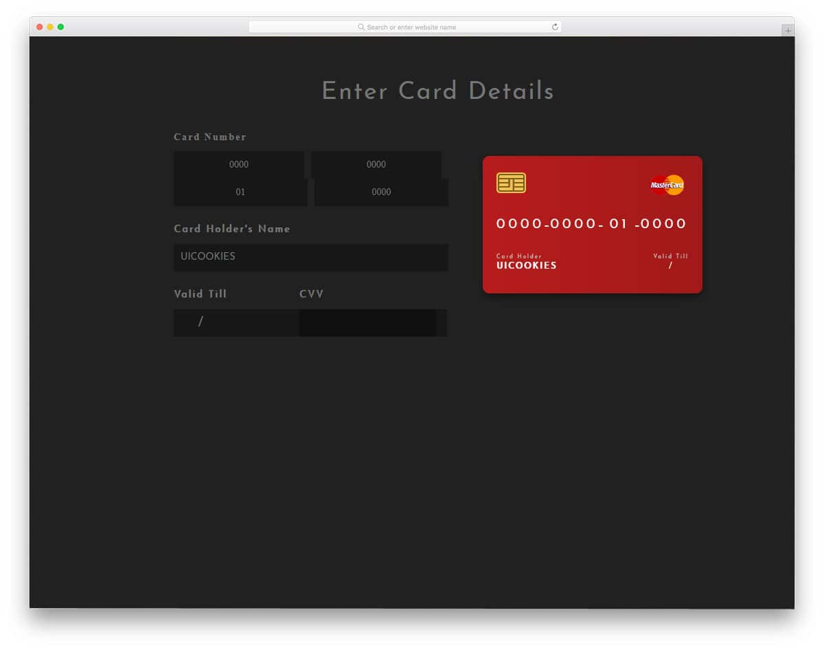 Payment-Card-Interactive-UI