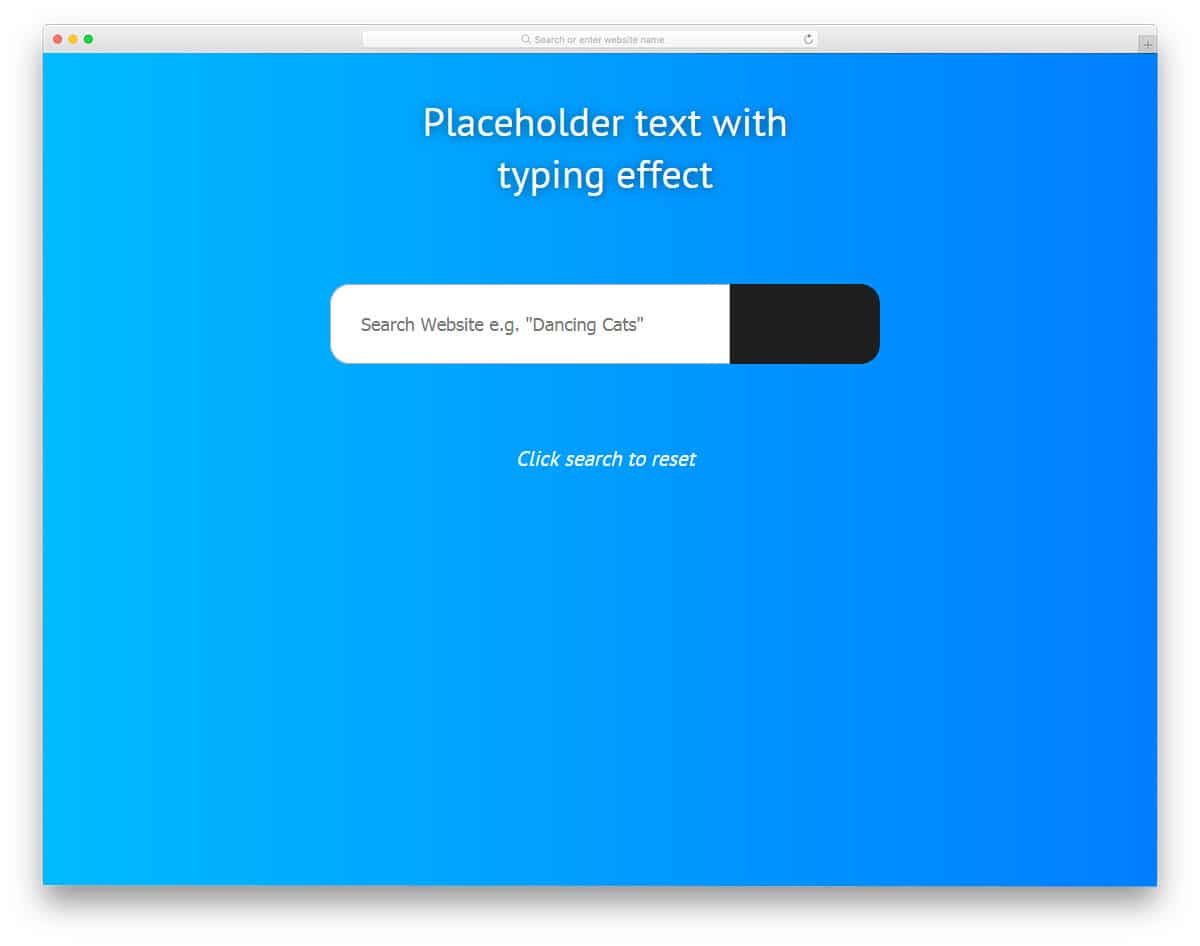 Placeholder-Typing-Text