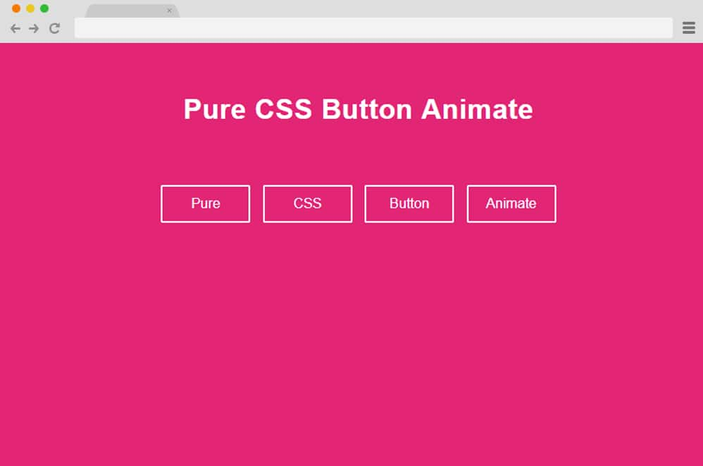 Pure CSS Button Animate css button animation