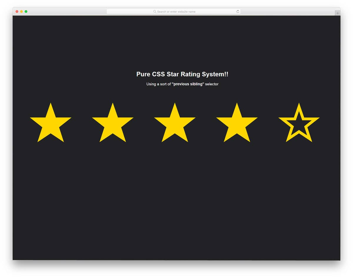 Pure-CSS-Star-Rating-System