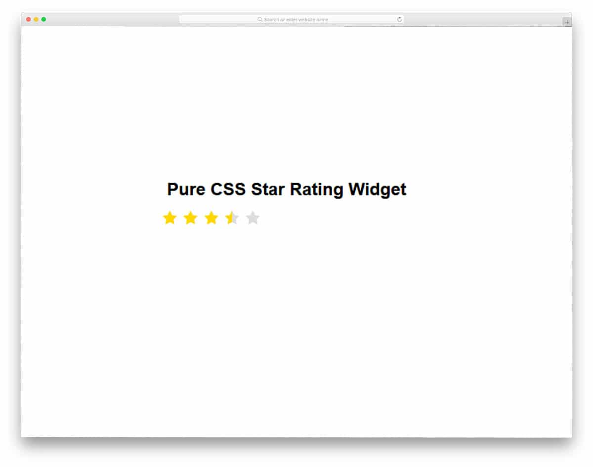 Pure-CSS-Star-Rating-Widget