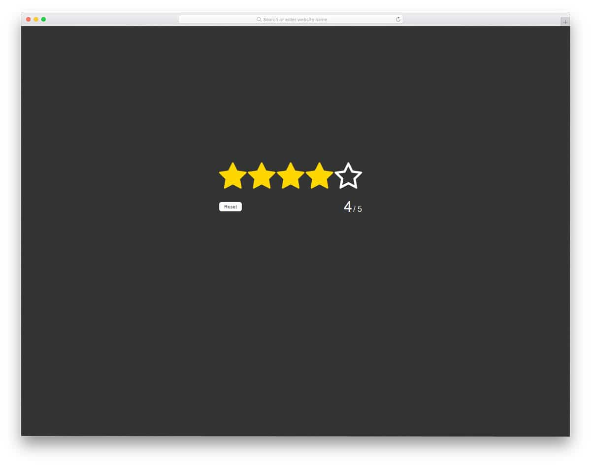 Rating-in-pure-HTML5-CSS3