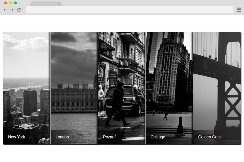 Split CSS Gallery css image gallery