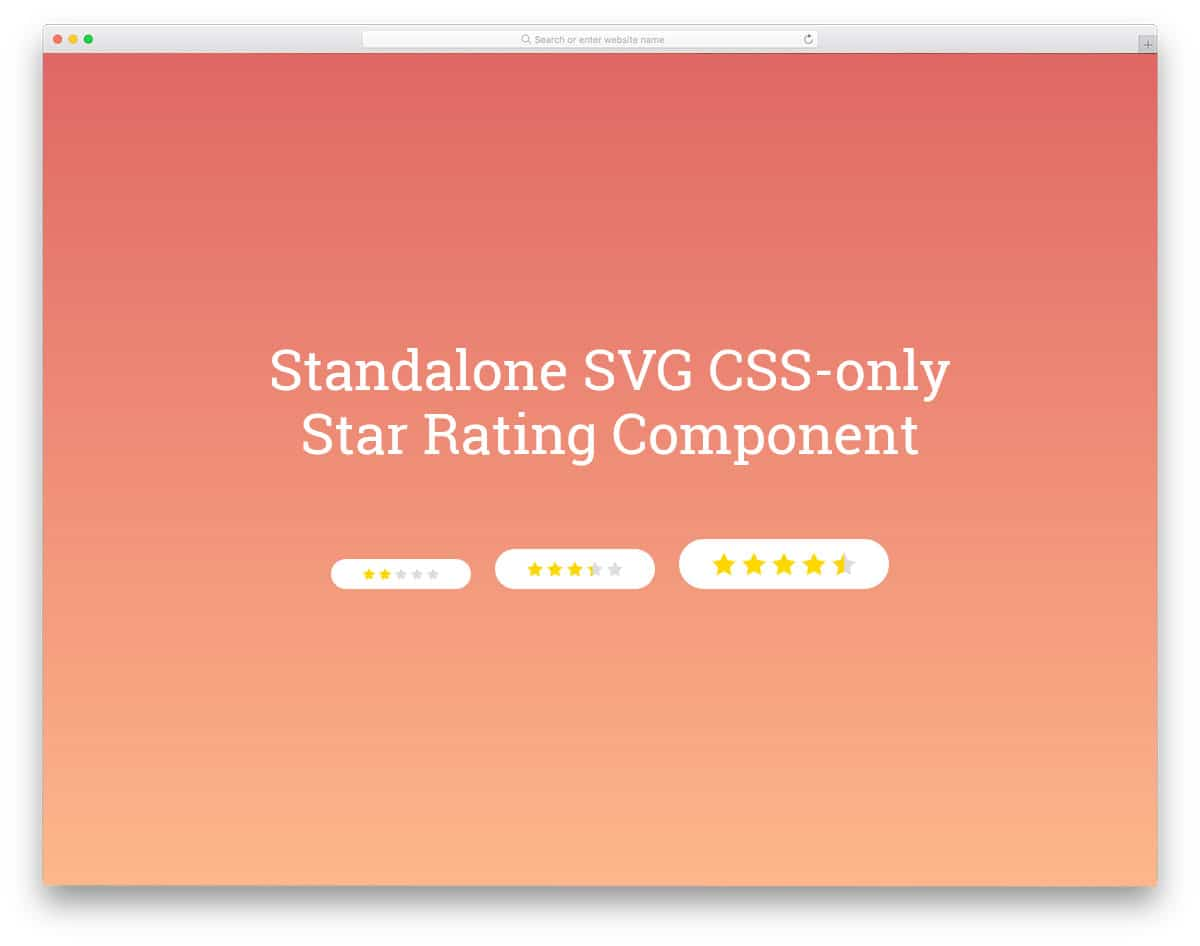 Standalone-SVG-Star-Rating-Component