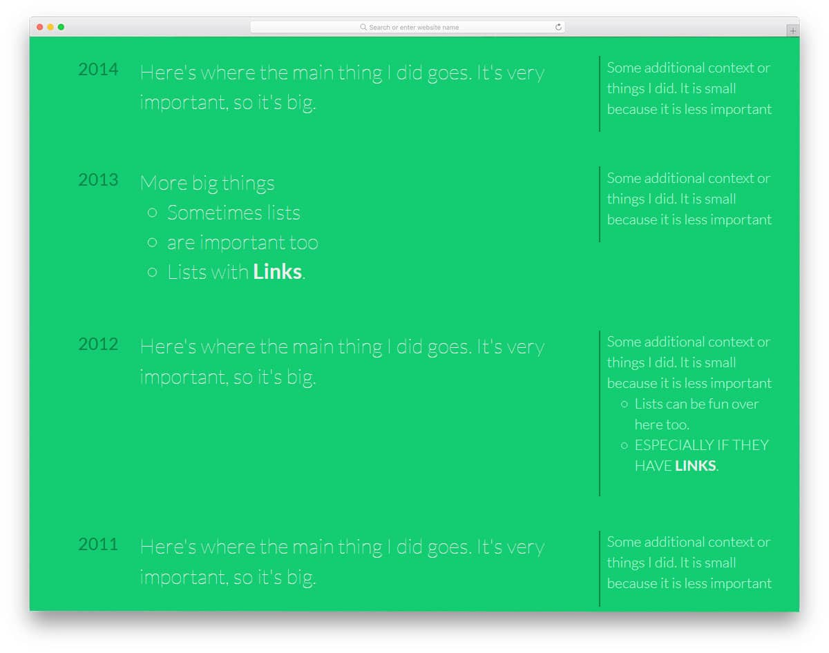 20 Clean CSS Timeline Design To Clearly Explain The Events