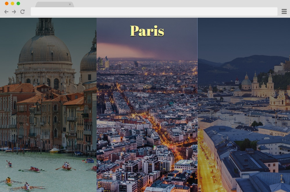 Travel Gallery css image gallery