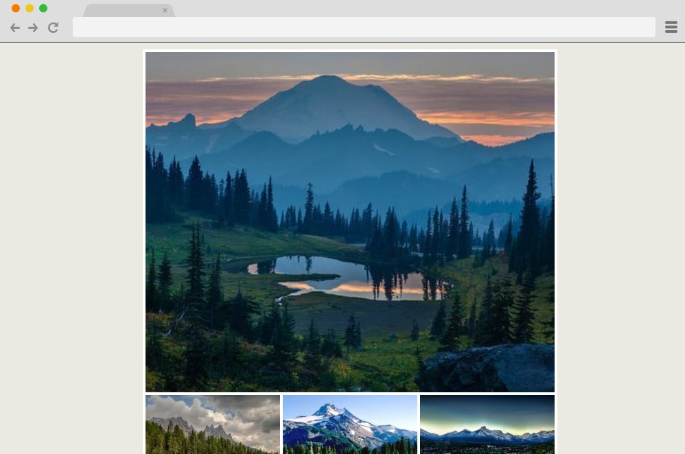 Tumblr Photogrid css image gallery