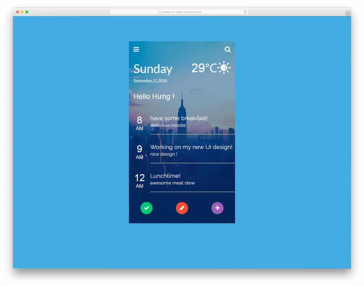 UI-Design-Morning-Timeline
