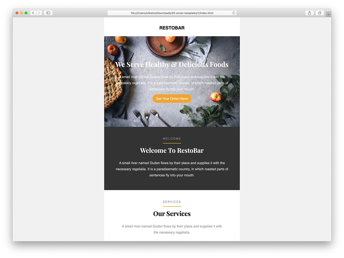 27 easy to customize free mailchimp email templates 2019