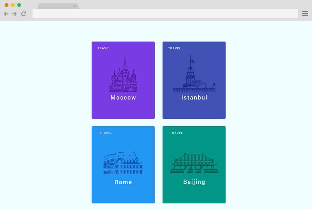 material design travel card