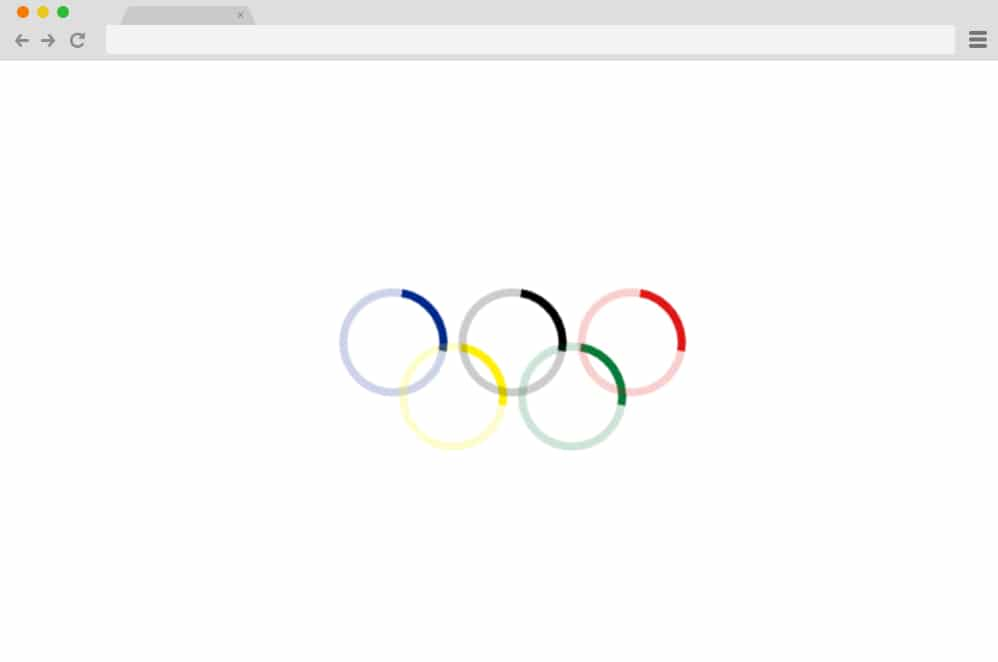 olympic rings CSS Spinners