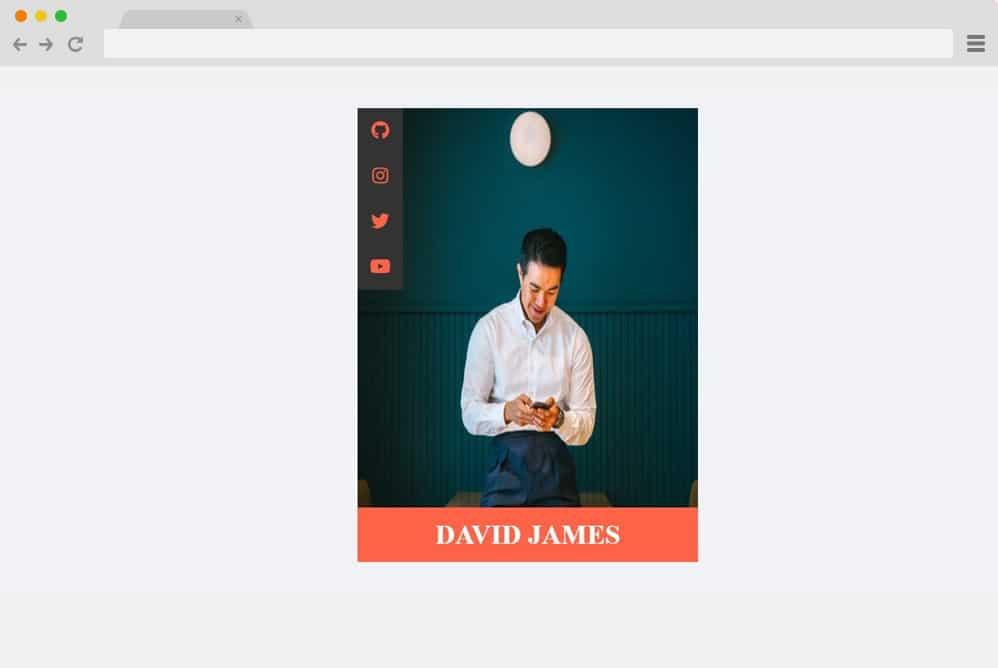 profile card hover