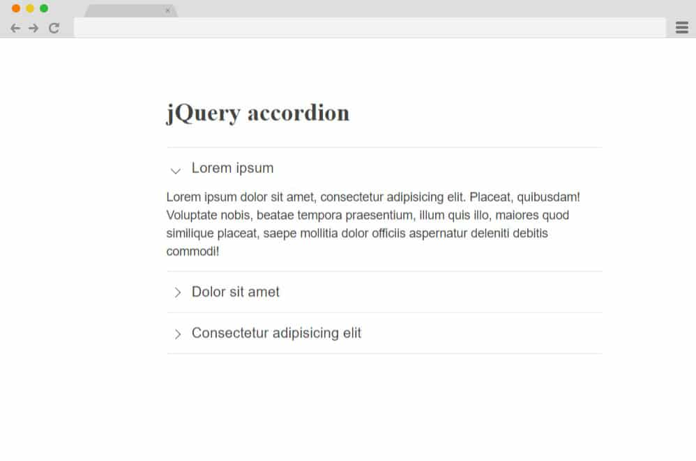 4 line jquery accordion