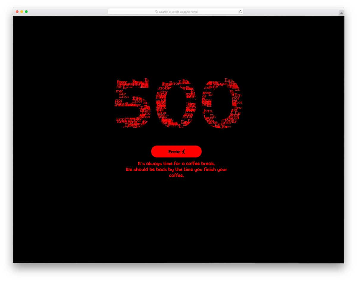 500-Error-Animated-Text-Fill