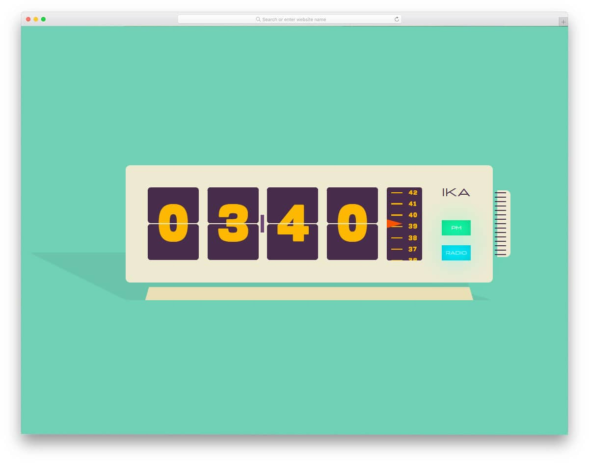 ATC-Vintage-Radio-Flip-Clock
