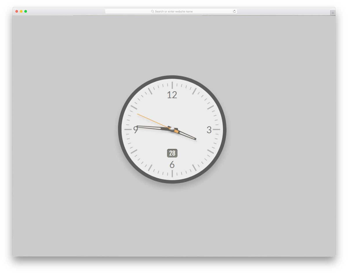 20 Cosy HTML Clock Designs For Modern Websites In 2019