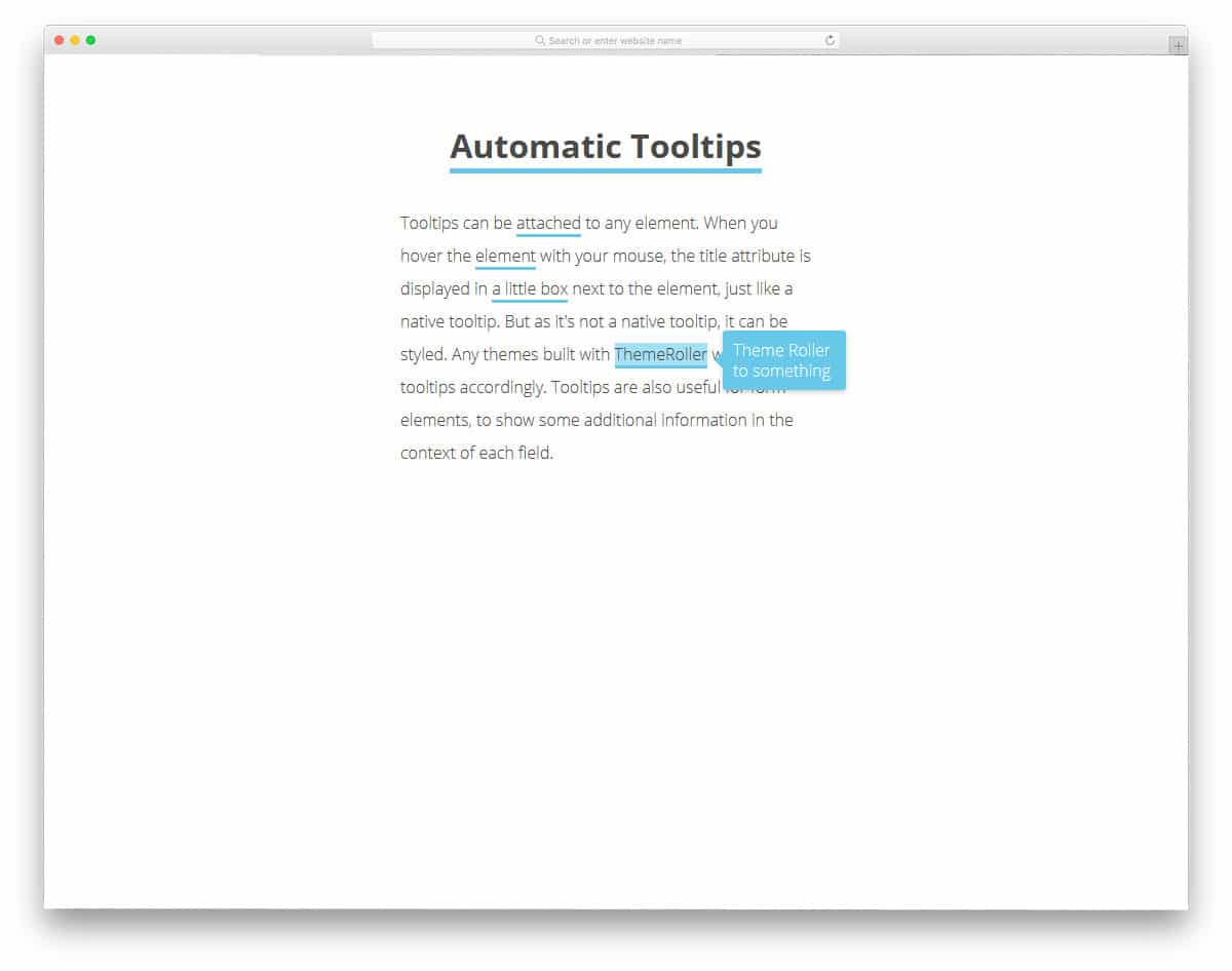 Automation-Tooltips