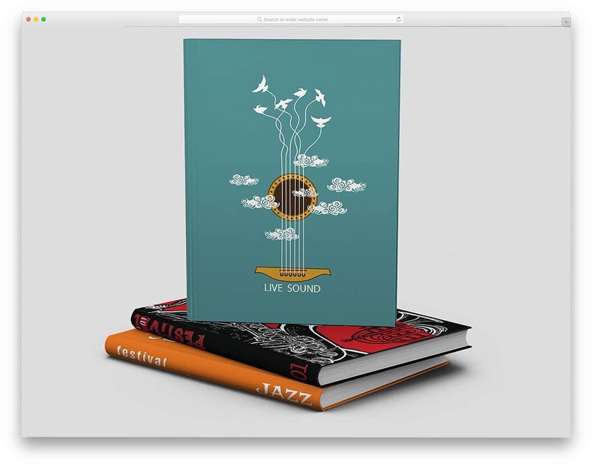 simple book mockup set