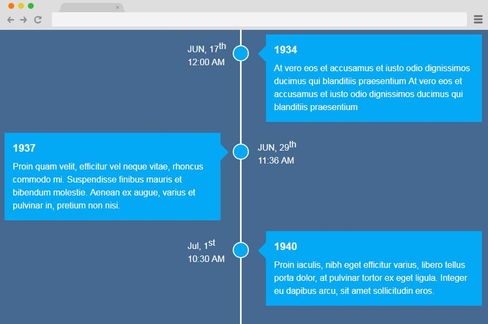 25 Interesting Ways To Implement Vertical Timelines On Your