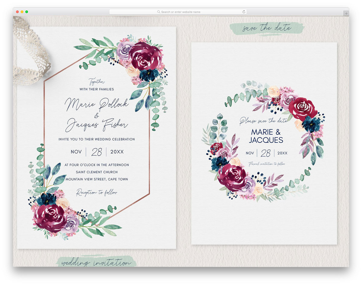 Burgundy-Wedding-Invitation-Set