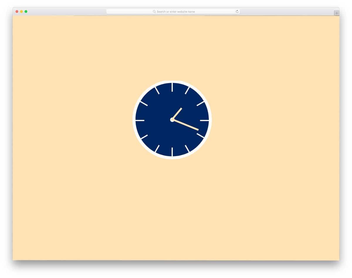 CSS-HTML-clock