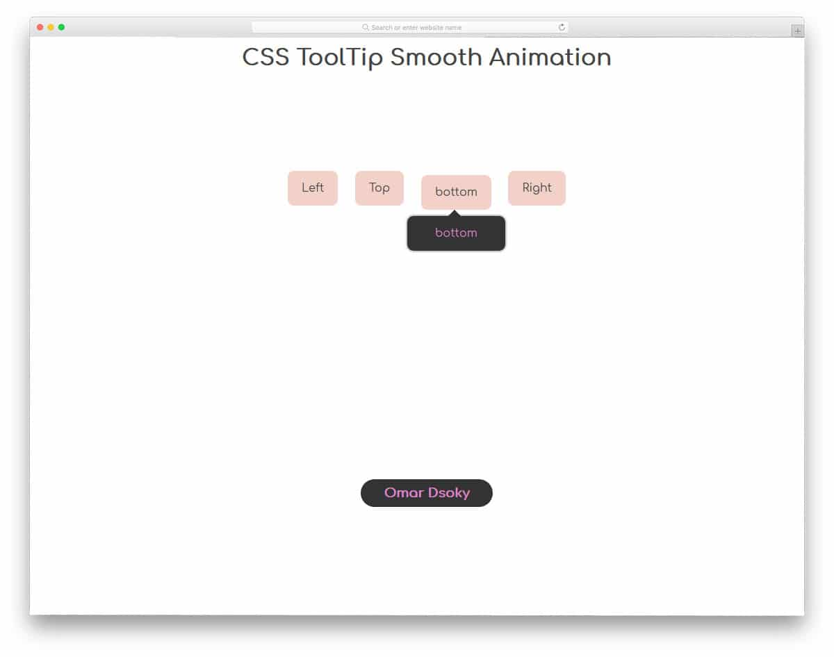 20 User Friendly Tooltips CSS For Websites And Applications