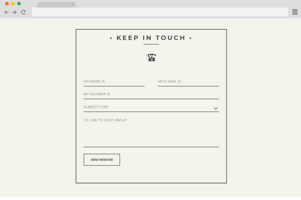 CSS forms - Vintage inspired Contact form 5