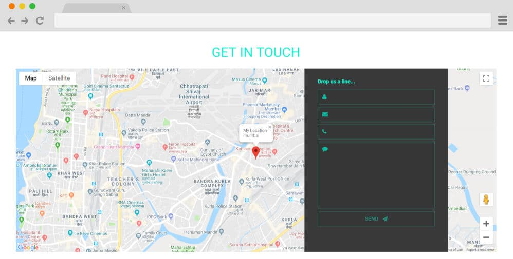 CSS forms - contact form with google maps 21
