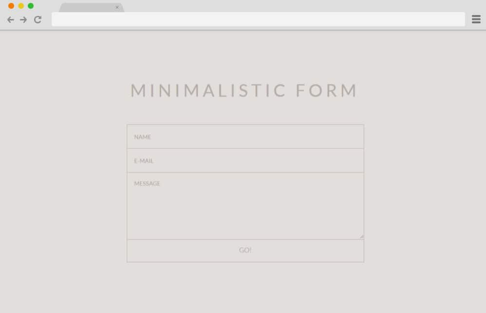 CSS forms - minimalistic form 17