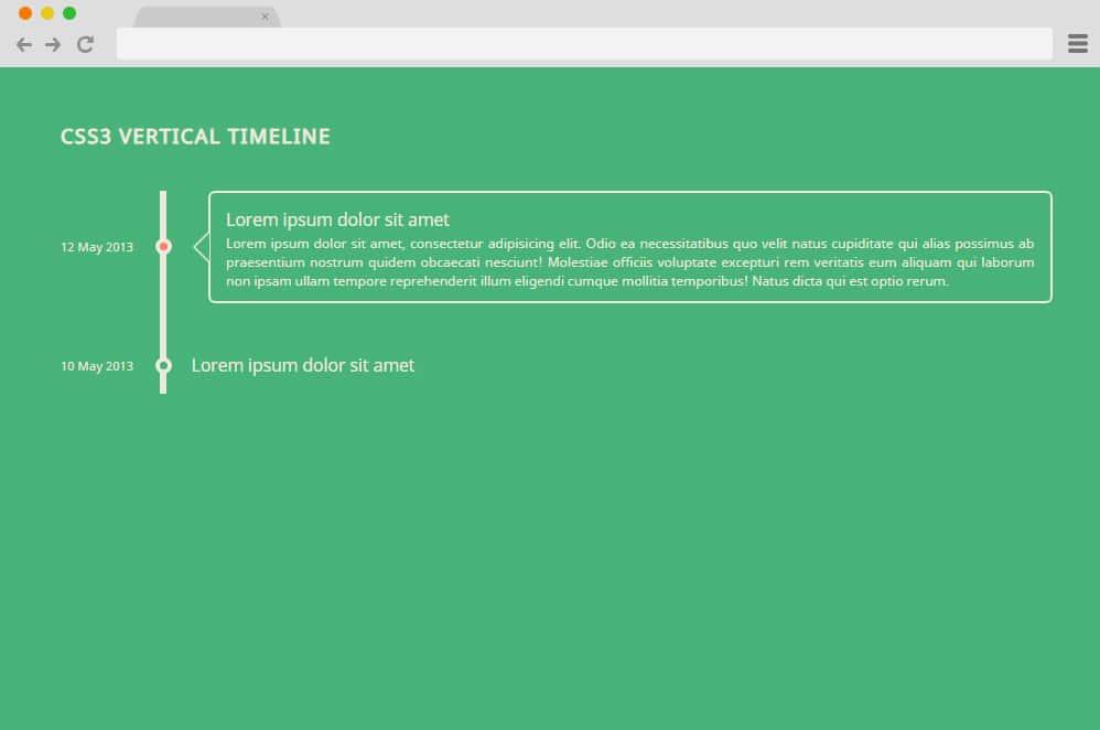 CSS3 Vertical Timeline vertical timeline