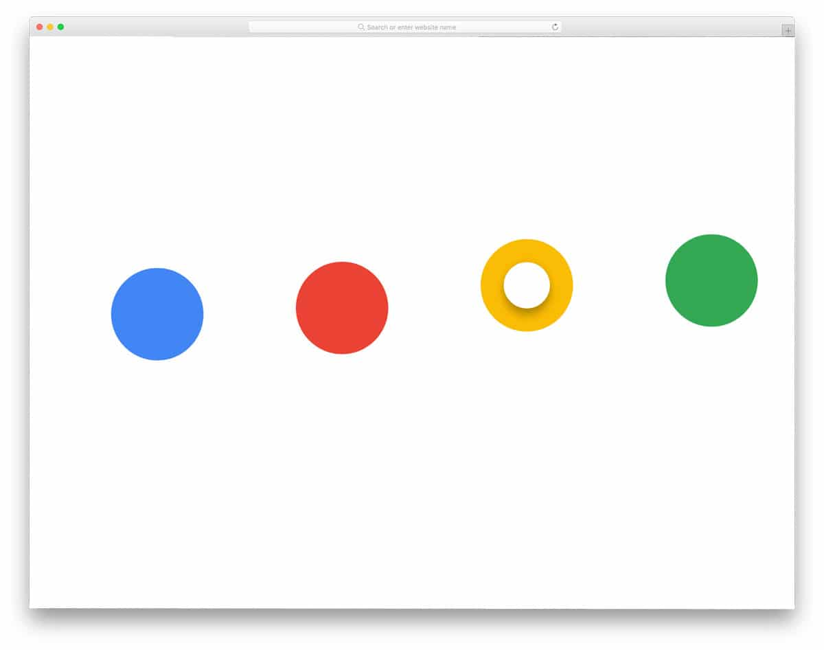 Google-Dots-Radio-Buttons