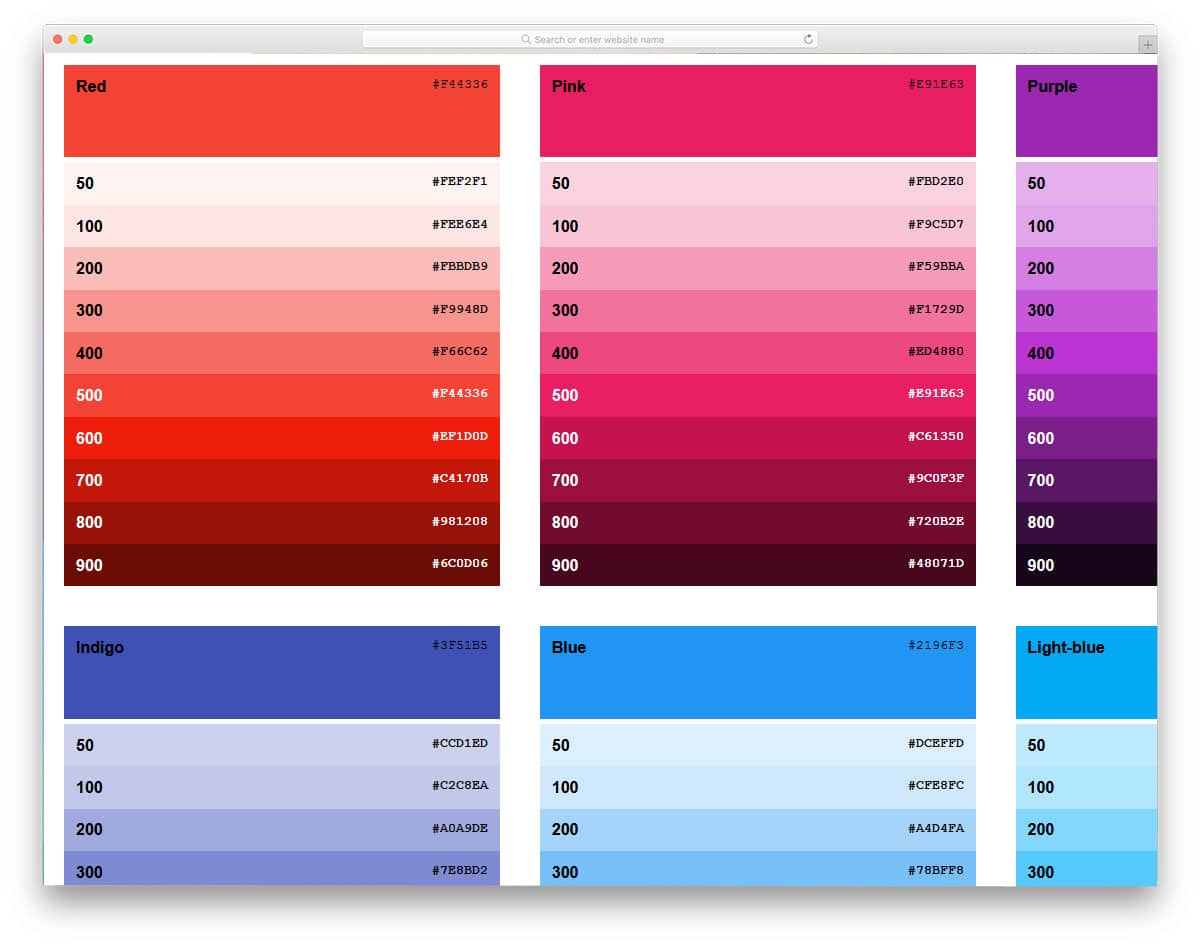 Google-Material-Design-Sass-Color-Palette