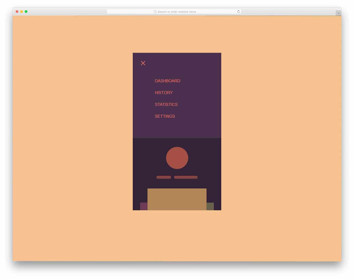 20 Intriguing CSS Mobile Menu Concepts For Modern Mobile