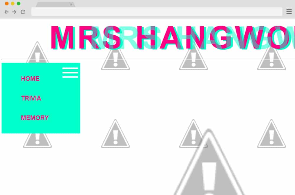 Mrs Hangwoman hamburger menu css