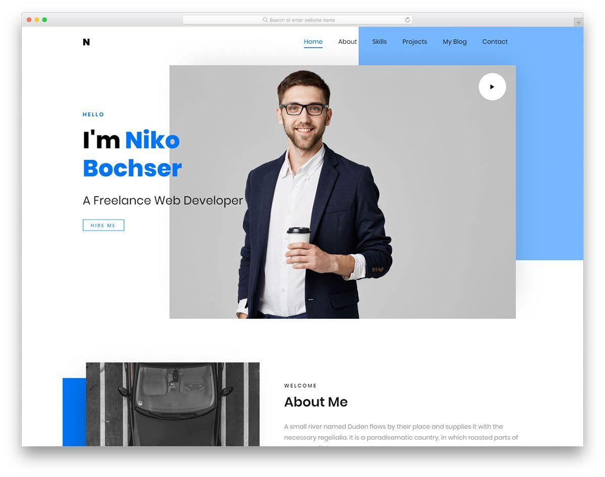 landing page template for freelancers and digital agencies