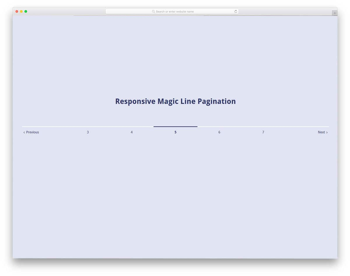 Responsive-Magic-Line-Pagination