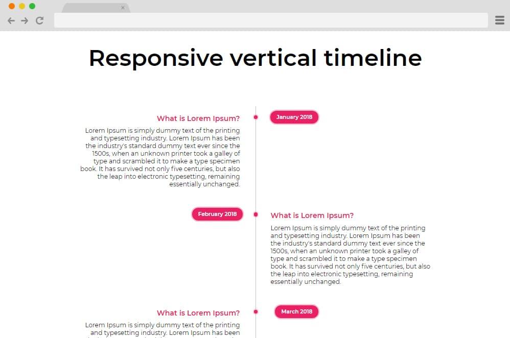 Responsive Vertical Timeline Design vertical timeline