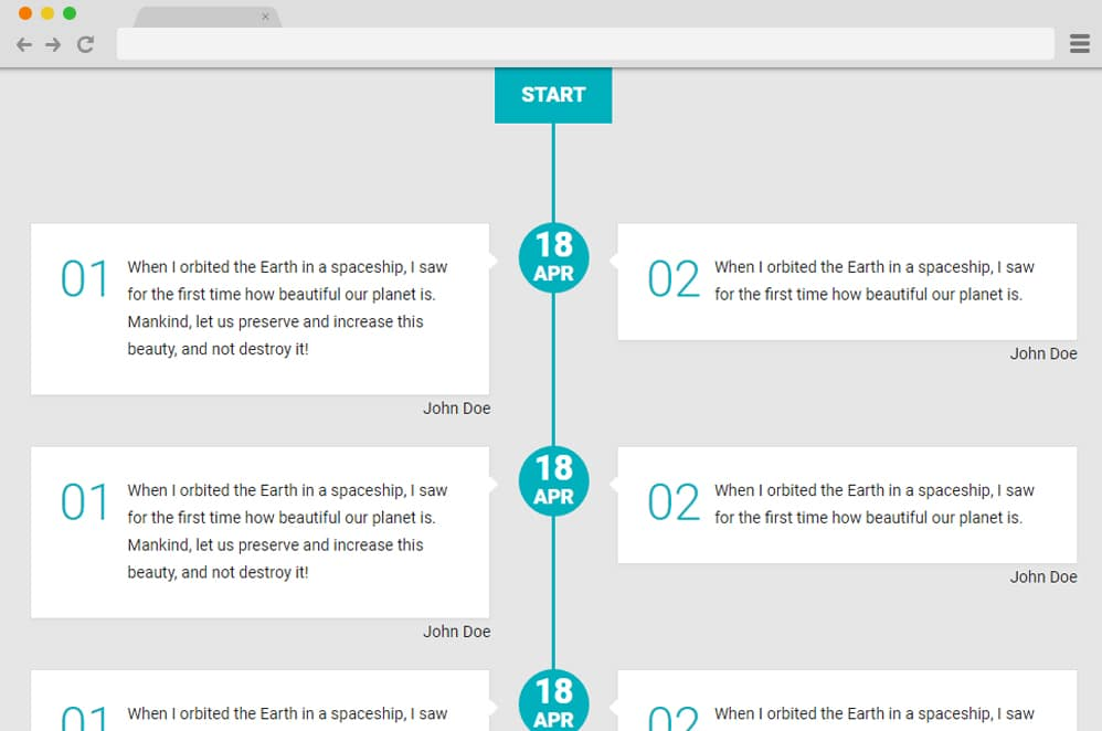 Responsive Vertical Timeline by Rakto Solaja vertical timeline