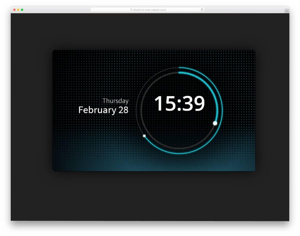 SVG-Clock-UI