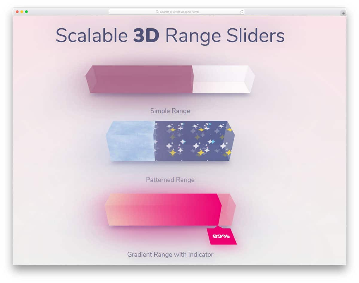 Scalable-3D-Range-Sliders